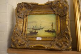 REPRODUCTION MARINE PICTURE IN FRAME