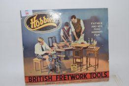 CARDBOARD ADVERTISING FOR BRITISH FRETWORK TOOLS