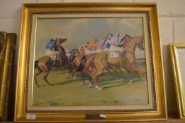 "PRINT AFTER MUNNINGS ""UNDER STARTERS ORDERS"""