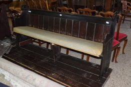PAINTED PINE PEW, LENGTH APPROX 201CM