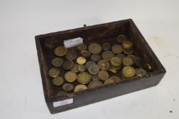 BOX CONTAINING SMALL BRASS WEIGHTS