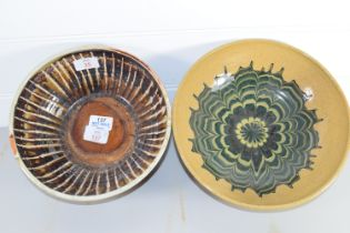 FOREST OF DEAN POTTERY BOWL, TOGETHER WITH A HOLKHAM POTTERY BOWL