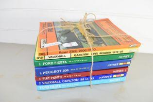 CAR MANUALS FOR FIESTA, PUNTO, VAUXHALL CARLTON ETC