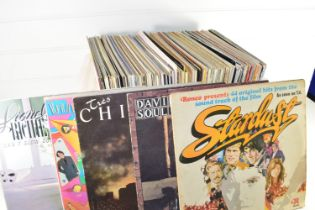PLASTIC BOX OF LPS, POP MUSIC - FOREIGNER, FRANKIE GOES TO HOLLYWOOD, ROXY MUSIC ETC