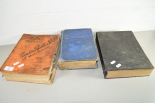 CATALOGUE FOR THE LONDON RUBBER CO 1939 AND TWO OTHER BOOKS, ONE BEING DYKES AUTOMOBILE AND GASOLINE