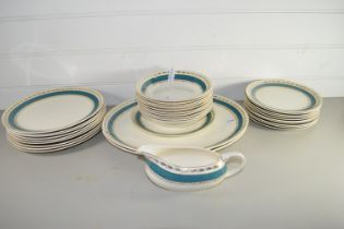QTY OF CERAMIC DINNER WARES BY CROWN DUCAL
