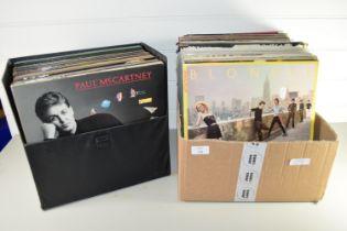 LARGE BOX CONTAINING LPS INCLUDING BLONDIE, PROCOL HARUM, WHITNEY HOUSTON ETC