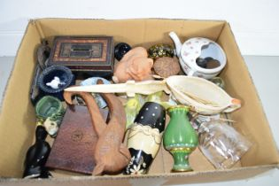 TRAY CONTAINING METAL WARES AND CERAMIC WARES, FEEDING CUP, SMALL SAUCE BOAT ETC