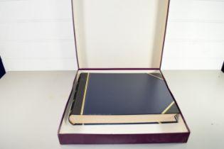 SIGNATURE VISITOR BOOK, LEATHER BOUND IN ASPREY BOX