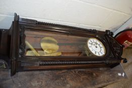 GOOD QUALITY LATE 19TH/EARLY 20TH CENTURY WALL CLOCK, HEIGHT APPROX 112CM MAX