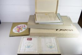 VARIOUS BOXES OF TABLE LINEN