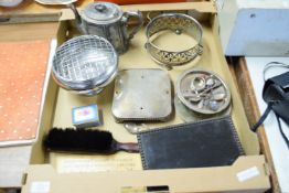 TRAY CONTAINING PLATED ITEMS AND SMALL PORCELAIN TRINKET BOX