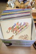 BOX CONTAINING LPS, MAINLY POP MUSIC, DIANA ROSS, THE BACHELORS, ABBA ETC