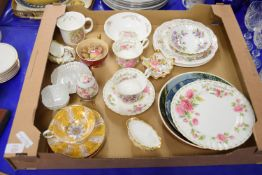 VARIOUS CERAMICS INCLUDING AYNSLEY CUP DECORATED WITH FRUIT