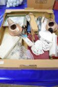 BOX CONTAINING FLATWARES ETC