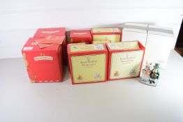 BOXED SET OF ROYAL DOULTON BUNNIKINS INCLUDING MOTHER, PILGRIM, AND OTHERS