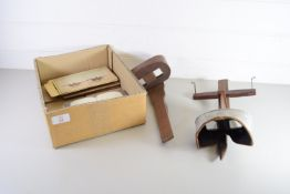TWO STEREOSCOPIC VIEWFINDERS WITH QUANTITY OF CARDS, MAINLY TOPOGRAPHICAL