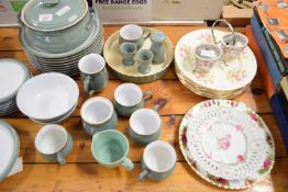 CONDIMENT STAND WITH CAKE PLATE BY ROYAL VALE AND OTHER CHINA