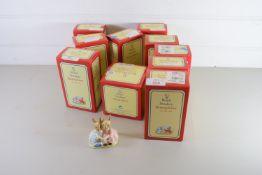 ROYAL DOULTON BUNNIKINS IN ORIGINAL BOXES INCLUDING LITTLE JOHN, UNCLE SAM, ETC