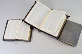SMALL POCKET VERSION OF THE BIBLE AND OTHER ITEMS