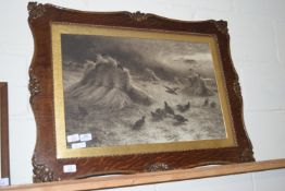 FRAMED PRINT OF A PAINTING BY J FARQUHARSON, APPROX 85 X 62CM