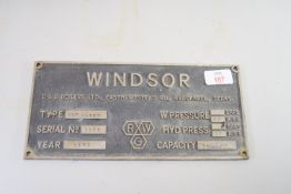 WINDSOR BOILER PLATE