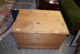 RUSTIC PINE STORAGE CHEST, APPROX 83 X 50CM