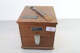 BOXED ANEROID BAROMETER