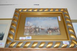 FRAMED PRINT OF GRAND CANAL IN VENICE, APPROX 46CM