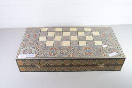 LARGE BACKGAMMON BOX WITH INLAY DECORATION
