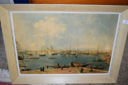 FRAMED PRINT OF THE GRAND CANAL IN VENICE, FRAME WIDTH APPROX 77CM