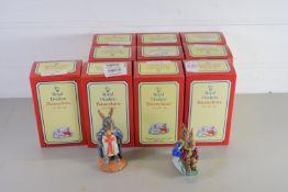 ROYAL DOULTON BUNNIKINS IN ORIGINAL BOXES INCLUDING MOTHER'S DAY, GARDENER, KING RICHARD ETC