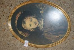FRAMED PRINT OF A REMBRANDT PAINTING, FRAME WIDTH APPROX 29CM
