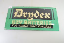 TIN ADVERTISING SIGN FOR DRIDEX DRY BATTERIES