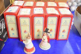 TEN ROYAL DOULTON BUNNIKINS IN ORIGINAL BOXES INCLUDING FEDERATION, WELSH LADY, SWEETHEART, CAVALIER