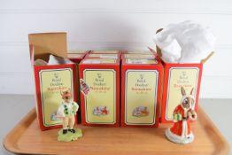 ROYAL DOULTON BUNNIKINS IN ORIGINAL BOXES INCLUDING IRISHMAN BUNNIKIN, TRUMPETER BUNNIKIN, FATHER
