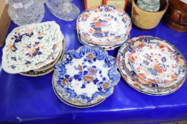 CERAMIC ITEMS, SOME 19TH CENTURY DERBY STYLE