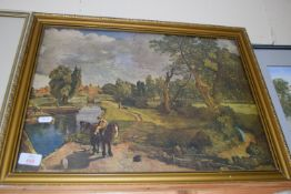 FRAMED PRINT OF PAINTING, WIDTH APPROX 57CM