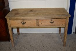 VINTAGE PINE TABLE WITH DRAWERS BENEATH, APPROX 133 X 66CM