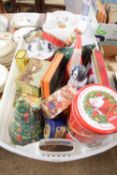CHRISTMAS STYLE BISCUIT TINS AND OTHERS