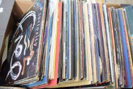 BOX CONTAINING LPS, MAINLY POP MUSIC, MICHAEL JACKSON, ABBA, JOHNNY CASH ETC