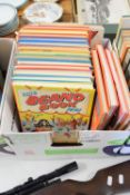 BOX CONTAINING ANNUALS INCLUDING THE BEANO FOR 1971/72 ETC