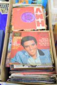 BOX CONTAINING 45RPM RECORDS, MAINLY POP MUSIC, ELVIS PRESLEY ETC