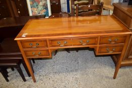 REPRODUCTION DRESSING TABLE WITH CROSS BANDED DECORATION, LENGTH APPROX 120CM