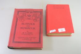 TWO BOOKS ON NORFOLK AND SUFFOLK BY M R JAMES INCLUDING DRAWINGS AND PHOTOGRAPHS