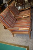 TWO CIRCA 1960S CINTIQUE FIRESIDE CHAIRS