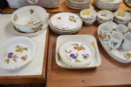 EXTENSIVE QUANTITY OF ROYAL WORCESTER TABLE WARE IN THE EVESHAM PATTERN COMPRISING TUREENS, FRUIT