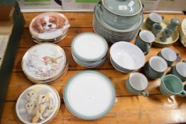 DINNER WARES BY DENBY INCLUDING A QUANTITY OF DINNER PLATES, TUREEN, JUGS, BOWLS, SIDE PLATES ETC