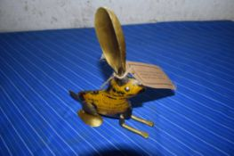 SMALL TIN FIGURE OF A HARE