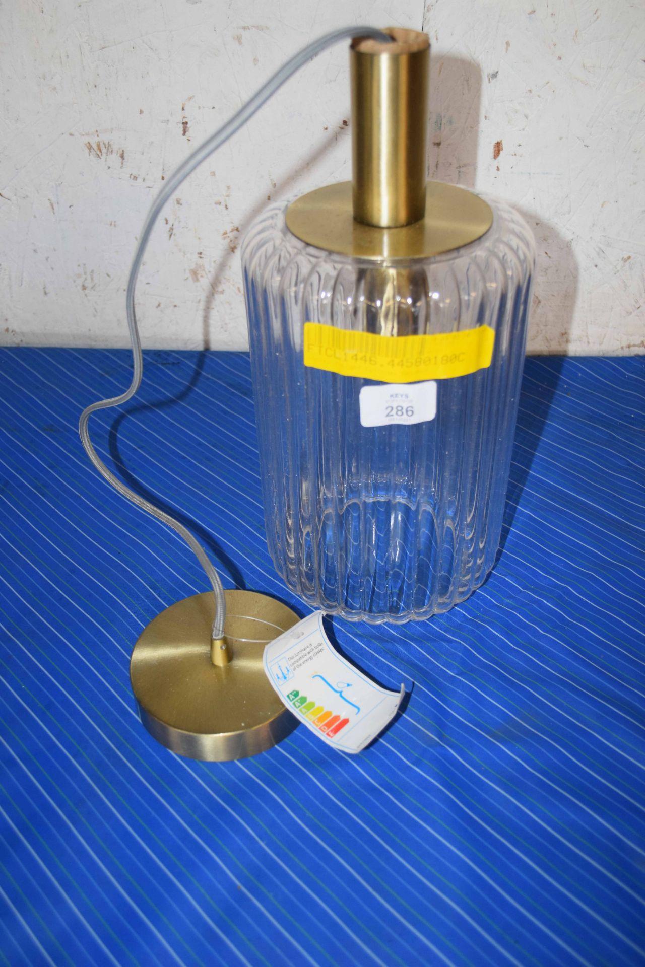 GLASS BOTTLE STYLE CYLINDER PENDANT LIGHT FITTING